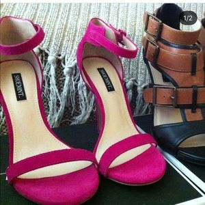 ✖️ShoeMint fuchsia pink strappy heels